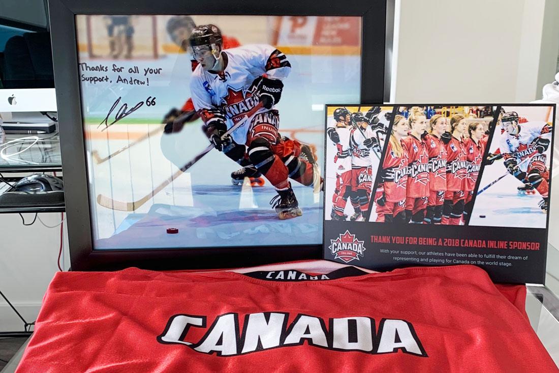 image of a signed hockey photo